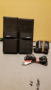 Bose MediaMate Black Computer Speakers Pair, Includes AC Adapter