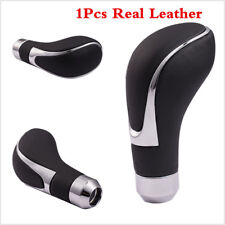 Genuine Leather Car Manual Automatic Transmission Gear Shift Knob Shifter Lever