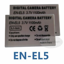 2pcs BATTERY Pack for NIKON EN-EL5 coolpix p6000 5200 5900 P100 P3 P4