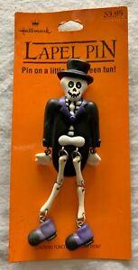 Vtg Hallmark Halloween SVENGOOLI Skeleton Pin Jointed Tuxedo on Original Card