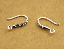 925 Sterling Silver Earrings DIY Ear Wire French Hook Connector - a pair A1974