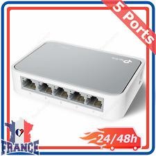 Commutateur Switch Réseau Smart Ethernet 10/100Mbps Mini Hub Blanc LAN RJ45 FR
