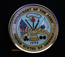 US ARMY CHALLENGE COIN SEAL LOGO ARTI INFANTRY AVIATION CAV BOOT CAMP PIN UP WOW