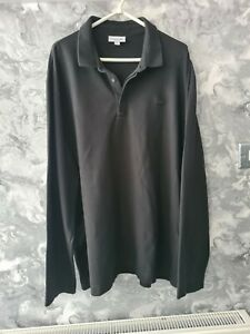 LACOSTE SPORT LONG SLEEVED POLO SHIRT, SIZE -  9 black