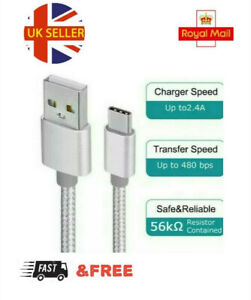 Braided Fast Charge Type C USB-C Data Charging Cable buy 1 get 2 Free 🇬🇧 Stock
