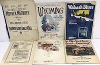 LOT OF 6 VINTAGE LARGE FORMAT SHEET MUSIC/BOOKLETS 1915-1921