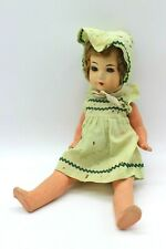 Rococo Vintage Composition Child Crying Doll Hand Painted 1930's Shirley Temple