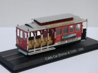 SAN FRANCISCO TROLLEY TRAM MODEL 1:76 SIZE RED FERRIES & CLIFF CABLE