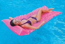 Inflatable Tote N Float Wave Mat Lounger Lilo Airbed Swimming Pool Float Raft