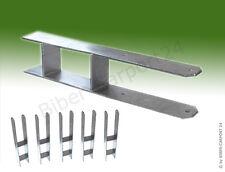6x H-ANKER Pfostenträger, 600/101 mm, feuerverzinkt für 10x10 cm Pfosten