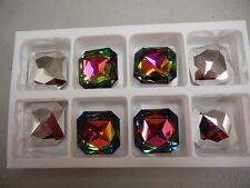 2 swarovski square octagon brooch stones,23mm vitrail medium #4675
