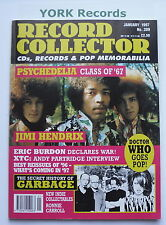 RECORD COLLECTOR MAGAZINE - Issue 209 January 1997 - Psychedelia / Jimi Hendrix