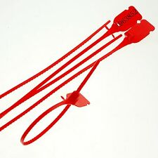 (50)Red 335mm Plastic Lead Ribbon/Seals Used for Tanker Containerized Cargo