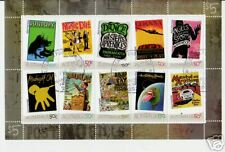 AUSTRALIA 2006 ROCK POSTERS FINE USED SET OF 10 IN SHEETLET