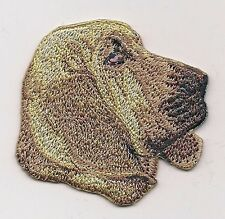 """2 1/8"""" x 2 1/4"""" Blood Hound Dog Breed Portrait Embroidery Applique Patch"""