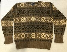 Vintage Polo Ralph Lauren Knit Crew Neck Wool Silk Sweater Men's Size Small EUC