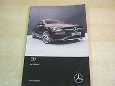 Mercedes CLA Class OWNERS MANUAL manuel 2015-2018