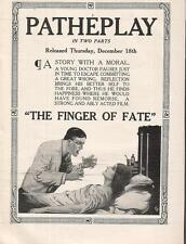 Irving Cummings Eleanor Woodruff Florence Dye 1913 Ad- The Finger Of Fate/Pathe