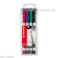 PK of 4 Stabilo Write-4-All Permanent Marker Pens Water-proof for CD & DVD- FINE