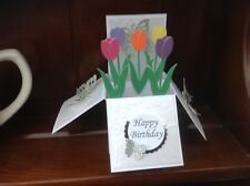 Beautiful handmade flower Tulip pop up card use for birthday/ Mother's Day Etc
