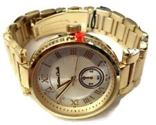 Ladies Dress Watch Milano By Montres Carlo MC38482 Gold Bracelet Band Gold Dial