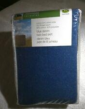 "John Deere Blue Denim Twin  Bed Skirt 39""x75"", 14"" hang. Official Deere licensed"
