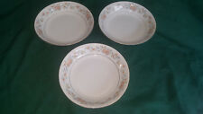 3 BAUM BROTHERS FORMALITIES ORANGE FLOWERS BLUE LEAVES SOUP BOWLS 8""