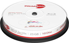 20 Primeon Rohlinge Blu-ray BD-R full printable photo on disc 25GB 10x Spindel
