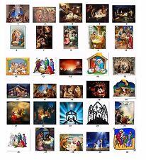 30 Return Address Labels Christmas Nativity Buy 3 get 1 free (nx2)