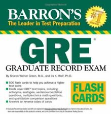 Barron's GRE Flash Cards by Green, Anna Book The Fast Free Shipping