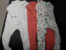 Baby Girls Clothes M/&S 3 PACK Sleeveless Vests Bodysuits 0-3 Months BNWT 3 PACK