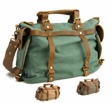 Travel Canvas Men Satchel Cross Body Shoulder Laptop Messenger Gym Weekender Bag