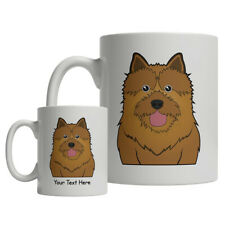 Norwich Terrier Dog Cartoon Mug - Personalized Text Coffee Tea Cup