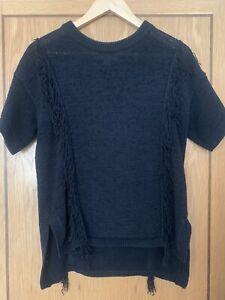 Michael Kors Knitted Tassel Jumper Top Size M UK12/14