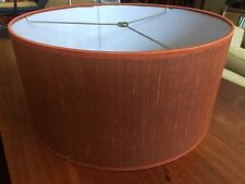 "Contemporary/Mid Centur fabric Drum Lamp shades 16"" w x 8"" ht Copper color"