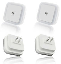 4 Pack 0.5W LED White LED Night Light Plug in with Auto Sensor Light Control