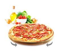 Drehteller Pizzateller ø45 cm drehbar Holzteller Drehplatte Buche Käseteller