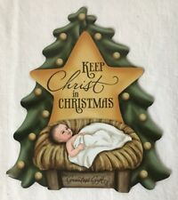 Keep Christ in Christmas Magnet Baby Jesus in Manger for Car or Refrigerator