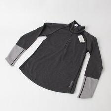 Craft Spark Women's Mid Layer Half Zip Top: Black Melange/Gray Melange SM
