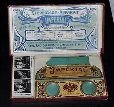 3 D    Stereo Bildbetrachter   Stereoscop-Apparat   IMPERIAL  RARITÄT