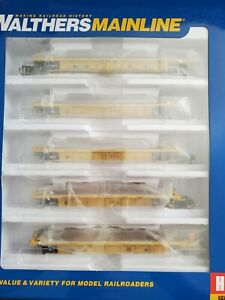 Walthers TTX Thrall 5-Unit Rebuilt 40' Well Car #748247