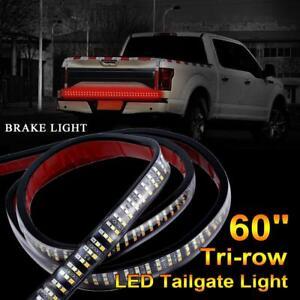 "60"" Triple Row LED Tailgate Light Bar Turn Signal Brake Run Reverse Truck Lights"