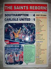 Southampton 4 Carlisle United 1 - 2010 Johnstone's Paint final - souvenir print