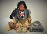 A21 Native American Indian Porcelain Drummer Tom Tom Doll Timeless Collection