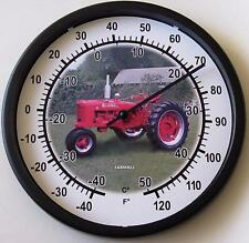 """New McCormick Farmall Model H Tractor Wall Thermometer 10"""" Round Model H Gift"""