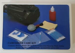 Vintage Camcorder/Camera Care Kit Lens Cleaning Outfit Kit In Plastic Box.