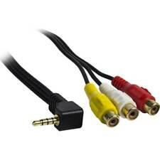 Metra AIP-35AV6 Adapter Audio/Visual Cable 6ft AV to 3.5 MM