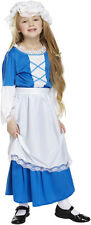 Child Tudor Kitchen Girls Costume Victorian Book Week Day Fancy Dress 7-9yrs