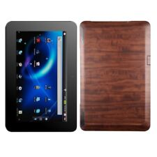 Skinomi Dark Wood Tablet Skin+Screen Protector Cover for ViewSonic ViewPad 10s
