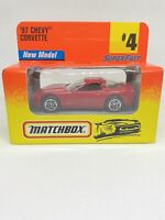 Matchbox Superfast #4 97 Chevy Corvette - Unopened (1996) In Red